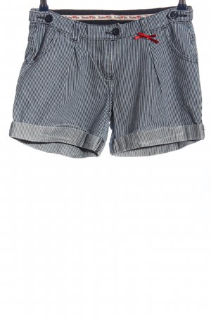 Review Short en jean bleu-blanc cassé motif rayé style décontracté