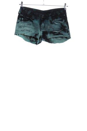 Review Jeansshorts blau Farbverlauf Casual-Look
