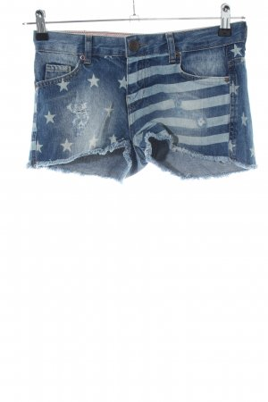 Review Jeansshorts blau Motivdruck Casual-Look