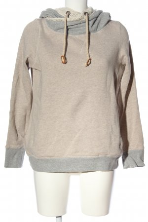 Review Hooded Sweatshirt natural white-light grey flecked casual look