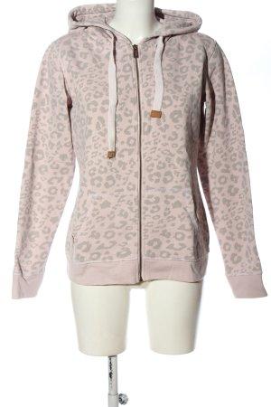 Review Sudadera con capucha rosa-gris claro look casual