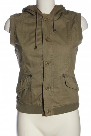 Review Hooded Vest khaki casual look