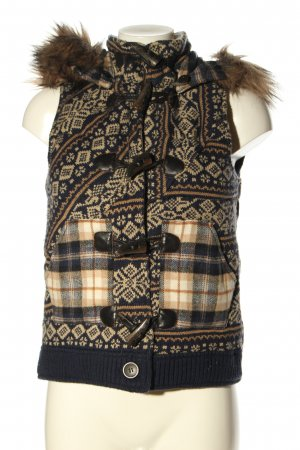 Review Hooded Vest abstract pattern casual look