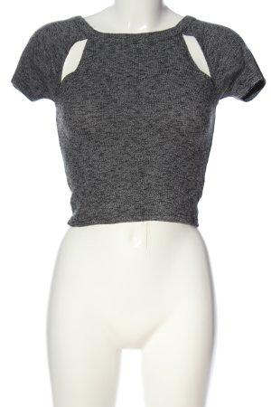 Review T-shirt court gris clair style décontracté