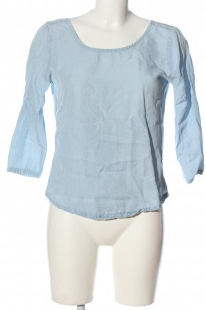 Review Langarm-Bluse blau Casual-Look
