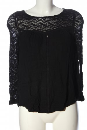 Review Langarm-Bluse schwarz Casual-Look
