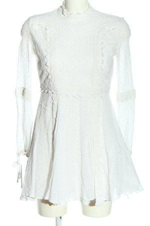 Review Robe à manches longues blanc style décontracté