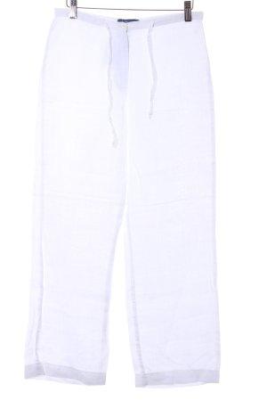 Review Pantalon en lin blanc Motif de tissage style décontracté