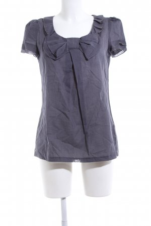 Review Lange blouse blauw zakelijke stijl