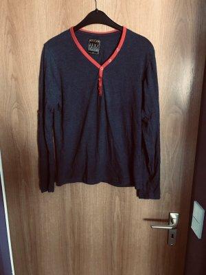 Review Camicia lunga blu scuro
