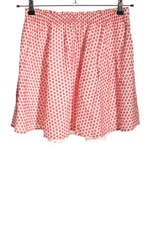 Review Minifalda blanco-rojo estampado repetido sobre toda la superficie