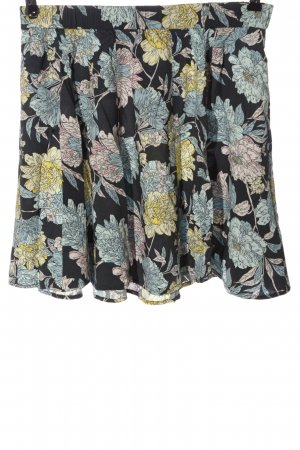 Review Miniskirt black-blue allover print casual look