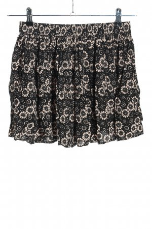 Review Miniskirt black-pink allover print casual look