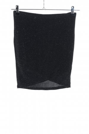 Review Miniskirt black flecked wet-look