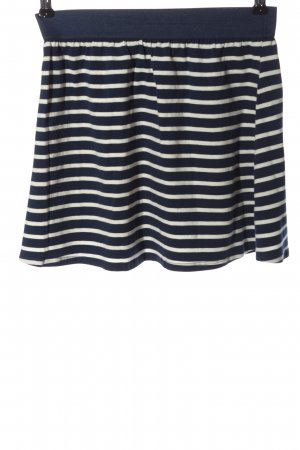 Review Miniskirt blue-white striped pattern casual look