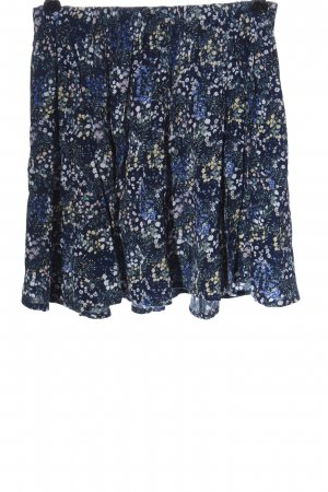 Review Miniskirt blue allover print casual look