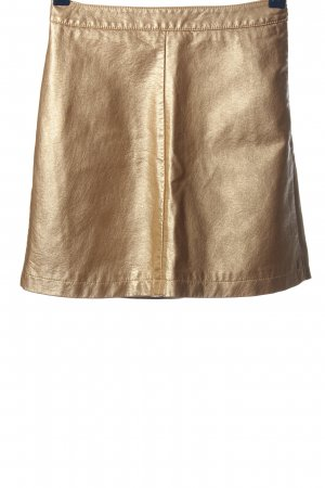 Review Miniskirt gold-colored casual look