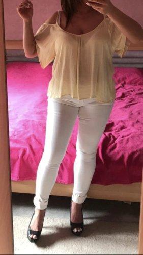 Review Camisa tipo Carmen amarillo pálido