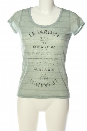 Review Print-Shirt khaki Schriftzug gedruckt Casual-Look