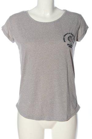 Review Print-Shirt hellgrau-schwarz meliert Casual-Look