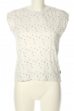 Review Print-Shirt Allover-Druck Casual-Look