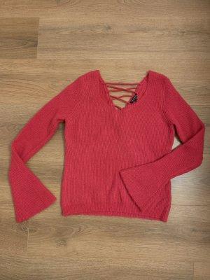 Review Pullover Pulli pink magenta P&C S 36 Schnürung Trompete
