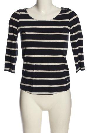 Review Koszulka w paski czarny-w kolorze białej wełny Wzór w paski