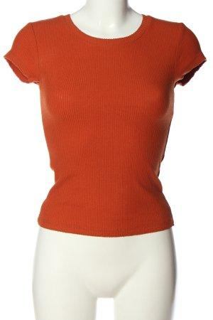 Review Prążkowana koszulka czerwony W stylu casual