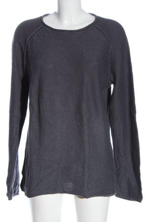 Review Jersey de cuello redondo gris claro look casual