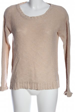 Review Rundhalspullover nude Casual-Look
