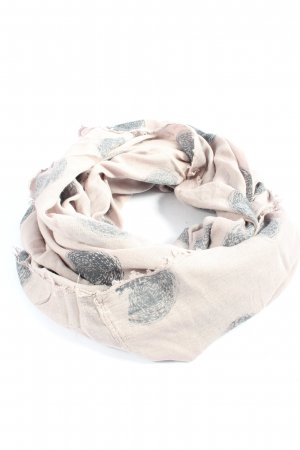 Review Snood wolwit-lichtgrijs abstract patroon casual uitstraling