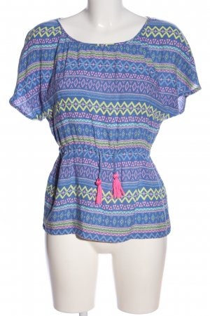 Review Schlupf-Bluse Allover-Druck Casual-Look