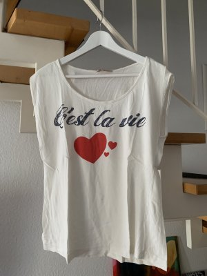 Review Shirt mit Aufdruck C'est la vie