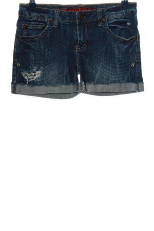 Review Short bleu coton