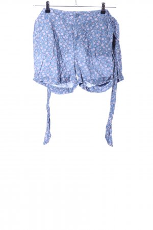 Review Shorts blau-pink Allover-Druck Casual-Look