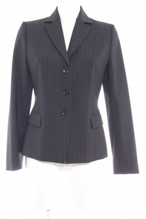 Review Smoking-Blazer schwarz-goldfarben Streifenmuster Business-Look