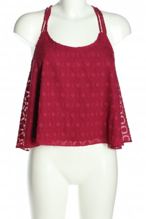 Review Spaghettiträger Top rot Casual-Look