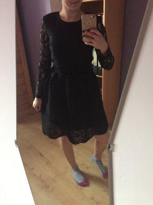 review spitzen Kleid schwarz rückenfrei 34/36
