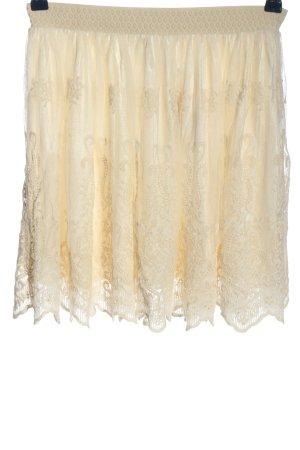 Review Falda de encaje crema elegante