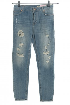 Review Straight-Leg Jeans blau Casual-Look