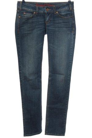 Review Jeansy z prostymi nogawkami niebieski W stylu casual