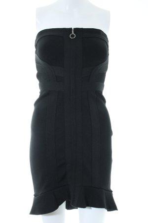 Review Vestido elástico negro elegante