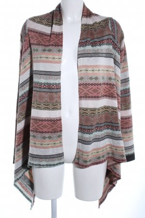 Review Strick Cardigan grafisches Muster Casual-Look