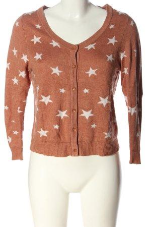 Review Cardigan tricotés rose chair imprimé allover style décontracté