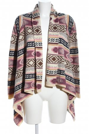 Review Strick Cardigan abstraktes Muster Casual-Look