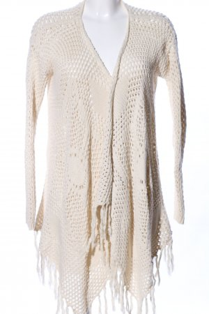 Review Strick Cardigan nude Zopfmuster Business-Look
