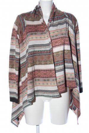 Review Strick Cardigan weiß-braun Allover-Druck Casual-Look