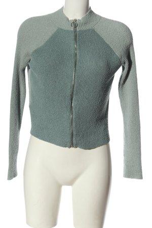 Review Veste en tricot gris clair motif rayé style décontracté