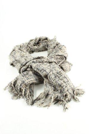 Review Gebreide sjaal room-zwart geruite print casual uitstraling