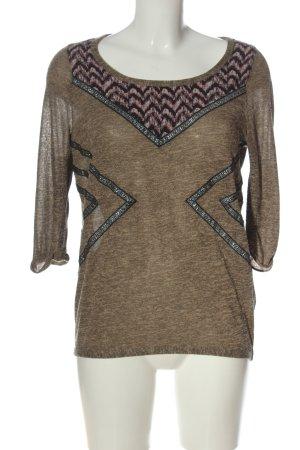 Review T-shirts en mailles tricotées motif abstrait style décontracté